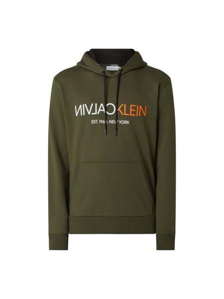 Bawełna bawełna zielony bluzka z kieszeniami Ck Calvin Klein