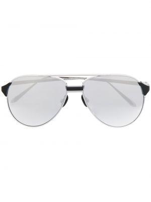 Серебряные солнцезащитные очки Linda Farrow