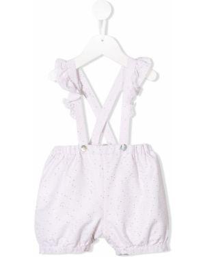 Różowe spodnie w paski bawełniane Aletta