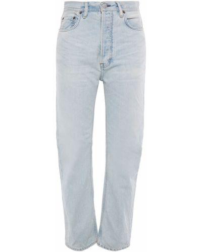 Niebieskie jeansy bawełniane z paskiem Acne Studios
