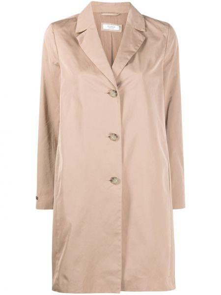 Хлопковый длинное пальто с карманами на пуговицах Peserico