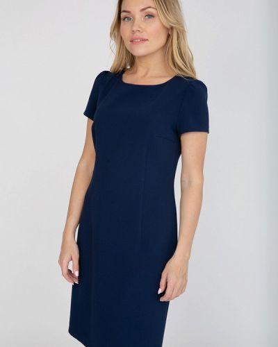 Платье миди осеннее синее Akimbo