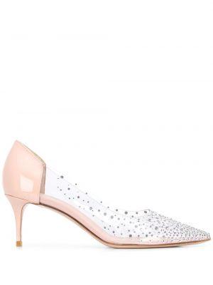 Кожаные лаковые туфли-лодочки без застежки на каблуке Le Silla