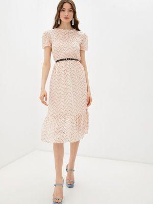 Прямое розовое платье А-силуэта Goldrai