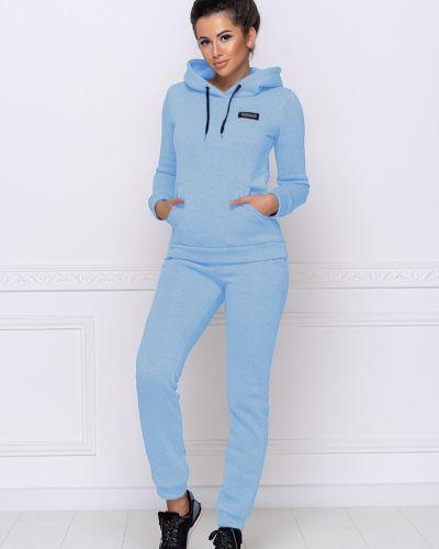 Теплый спортивный костюм - голубой Fashion Girl