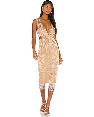 Платье миди с бахромой на молнии Song Of Style
