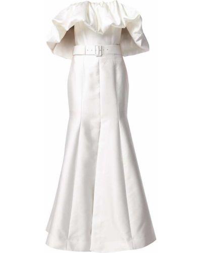 Пышное белое платье макси без рукавов Solace London