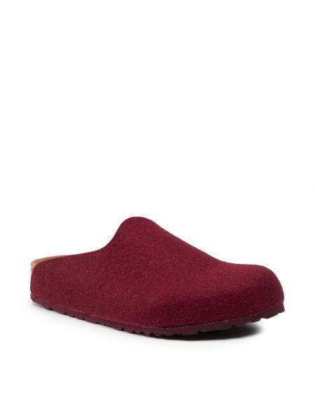 Sandały skórzane - bordowe Birkenstock