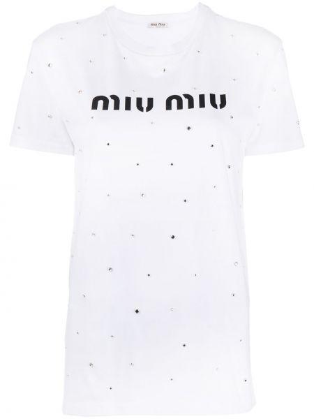 Z rękawami czarny koszula metal niski wzrost Miu Miu