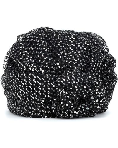 Czarny turban Maison Michel