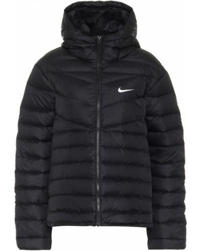 Пуховая теплая классическая черная куртка Nike