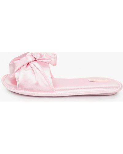 Домашние текстильные розовые домашние тапочки Women'secret