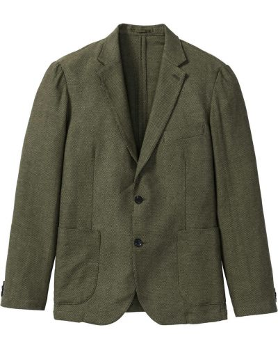 Костюм с карманами зеленый Bonprix