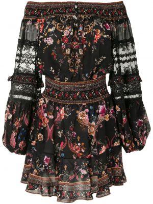 Шелковое платье макси - черное Camilla
