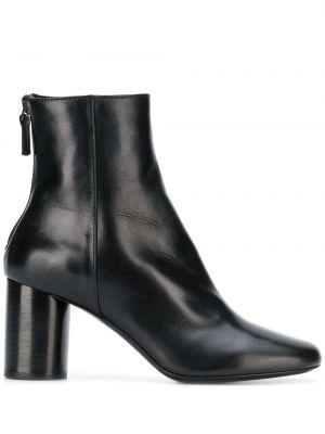 Массивные черные сапоги на высоком каблуке на каблуке на молнии Sandro Paris