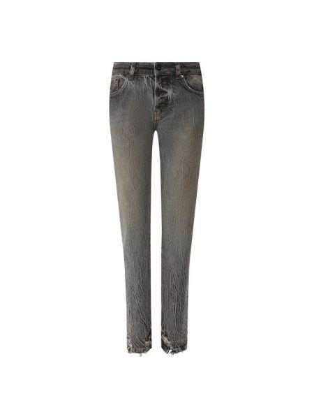 Серые джинсы из плотной ткани Filles A Papa