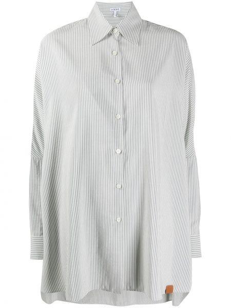 Классическая рубашка с манжетами с воротником на пуговицах с нашивками Loewe