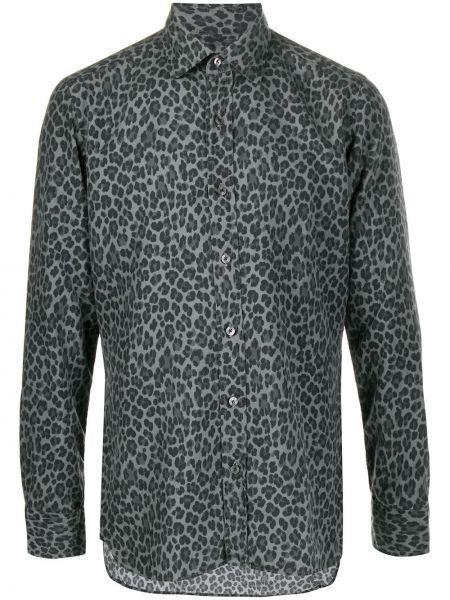 Koszula z długim rękawem klasyczna jedwab Tom Ford