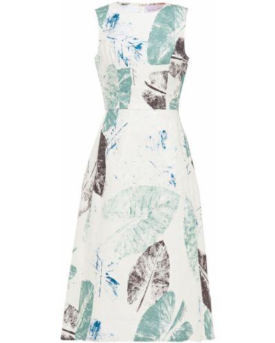 Ażurowa sukienka midi rozkloszowana bawełniana Carolina Herrera