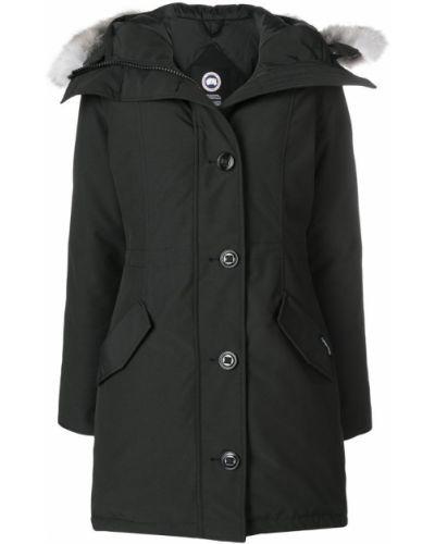 Пальто с капюшоном на молнии на пуговицах Canada Goose