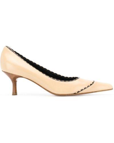 Туфли на каблуке лодочки винтажные Chanel Vintage
