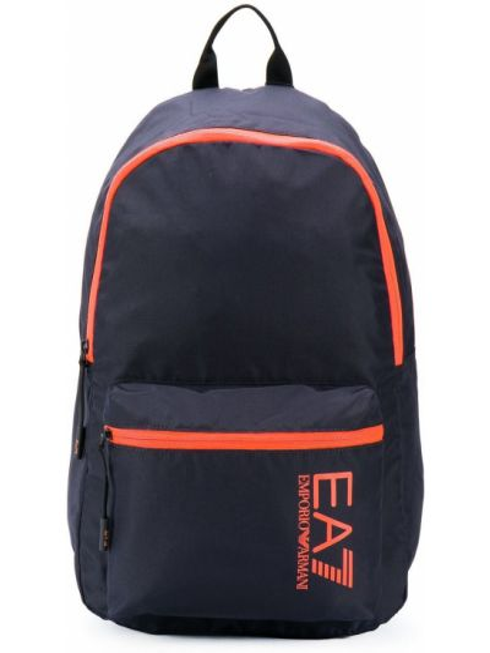 Czarny plecak z printem Ea7 Emporio Armani
