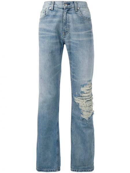 Niebieskie jeansy bawełniane perły Warren Lotas