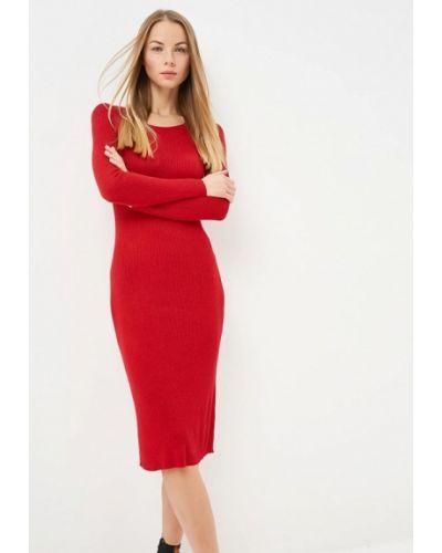Платье осеннее красный By Swan