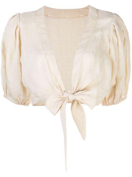 Bluzka z krótkim rękawem na gumce bielizna Lisa Marie Fernandez