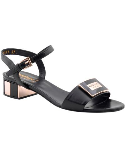 Черные босоножки на каблуке Baldinini