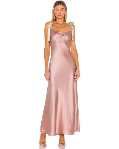 Satynowa sukienka z falbanami Dannijo