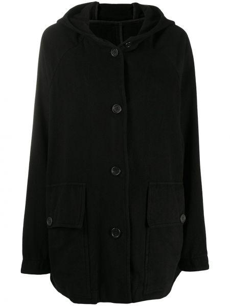 Классическое кашемировое черное пальто с капюшоном с капюшоном Casey Casey