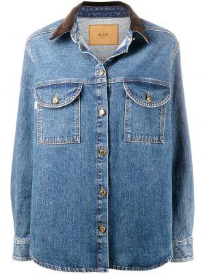 Хлопковая синяя джинсовая куртка на пуговицах с воротником Blazé Milano