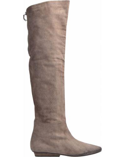 Бежевые ботфорты кожаные Vic Matie