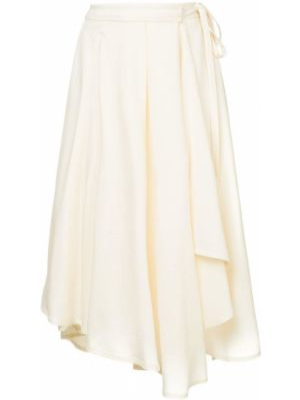 Spódnica z wysokim stanem biały Lemaire