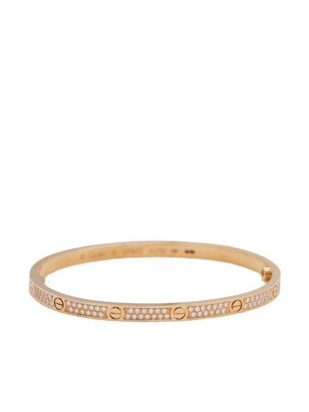 Złota bransoletka ze złota z diamentem Cartier