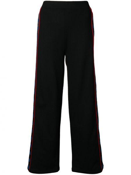 Шелковые черные расклешенные свободные брюки с поясом Stella Mccartney