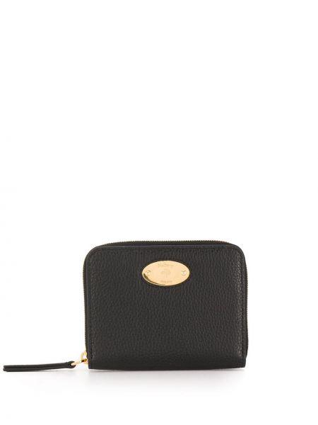 Czarny portfel skórzany Mulberry