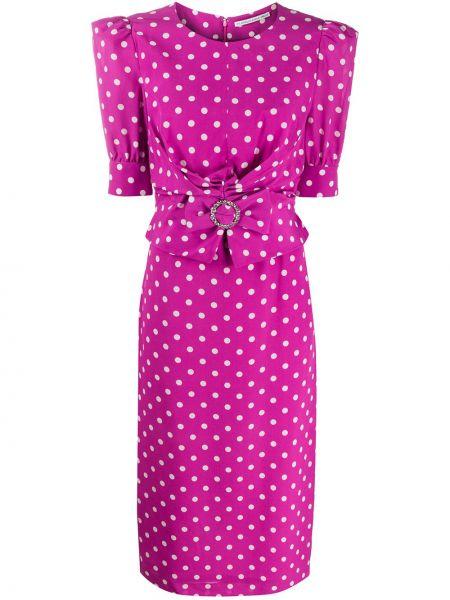 Платье мини миди в горошек Alessandra Rich