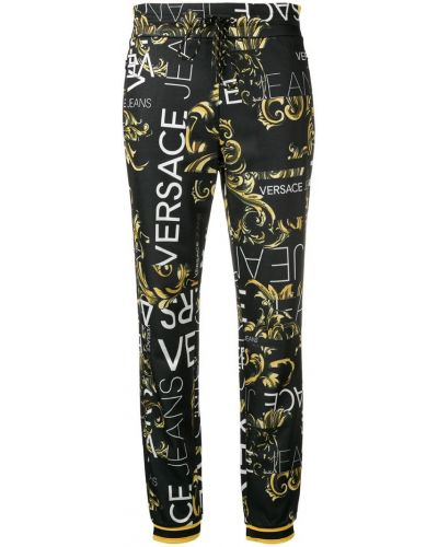 Черные спортивные брюки с манжетами Versace Jeans