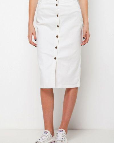Джинсовая юбка белая Escena