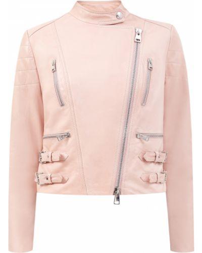 Розовая кожаная короткая куртка с подкладкой Ermanno Scervino