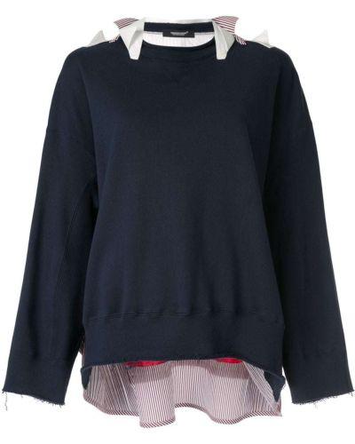 Хлопковый свободный синий свитер Undercover