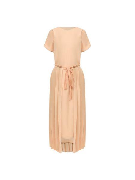 Вечернее платье миди бежевое Mm6