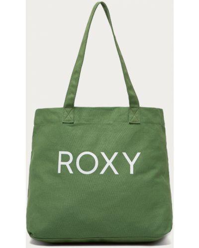 Zielona torebka duża z printem Roxy