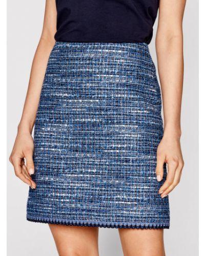 Niebieska spódnica trapezowa Luisa Spagnoli