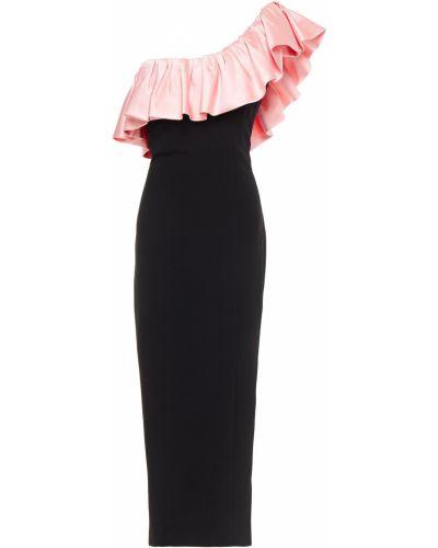 Черное платье миди с подкладкой из крепа Ronny Kobo