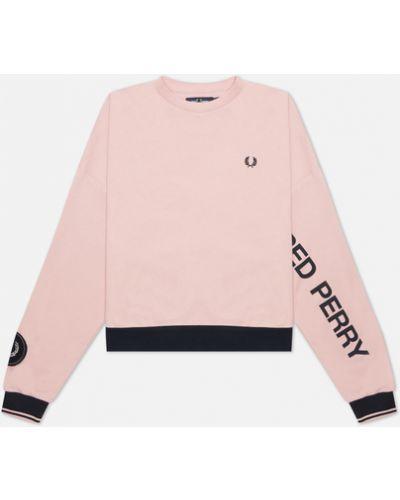 Розовая хлопковая кофта Fred Perry