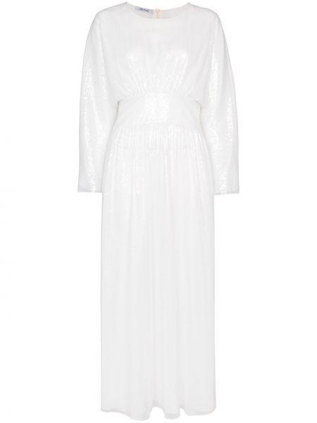 Приталенное классическое платье миди с пайетками с вырезом Deitas