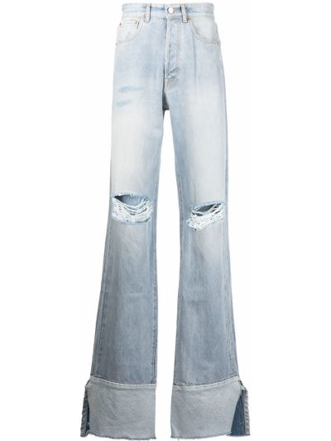 Синие джинсы классические Vetements